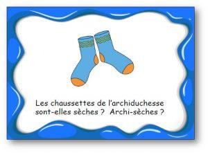 """Virelangue """"Les chaussettes de l'archiduchesse"""""""