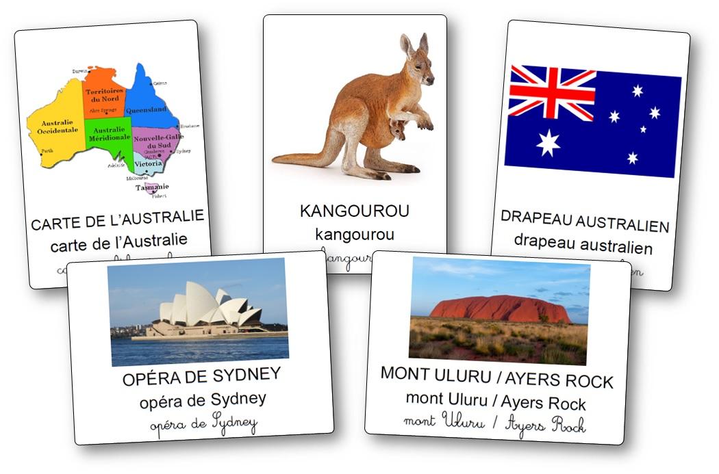 Imagier de l'Australie, imagier Australie