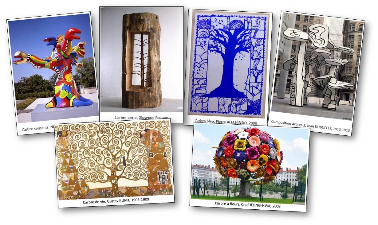 reproductions d'œuvres d'art sur le thème de la forêt et des arbres