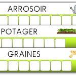 Atelier des mots outils du jardinier