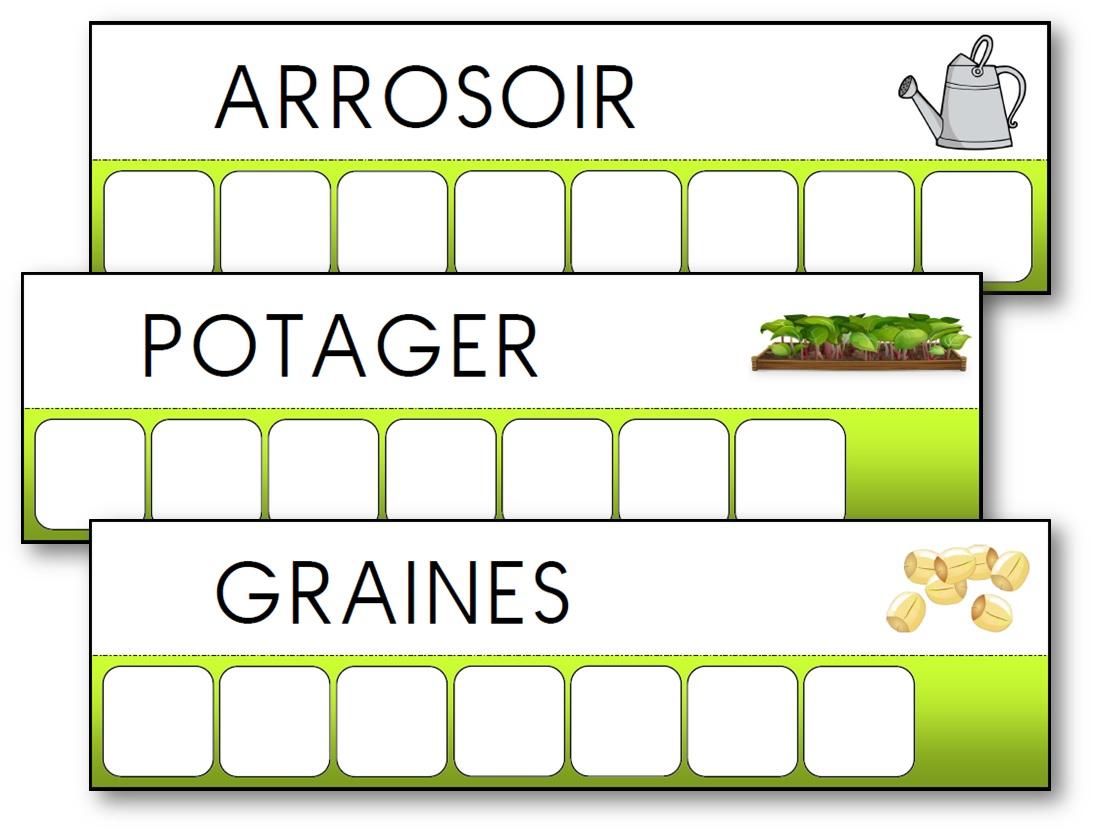 Atelier des mots des outils du jardin
