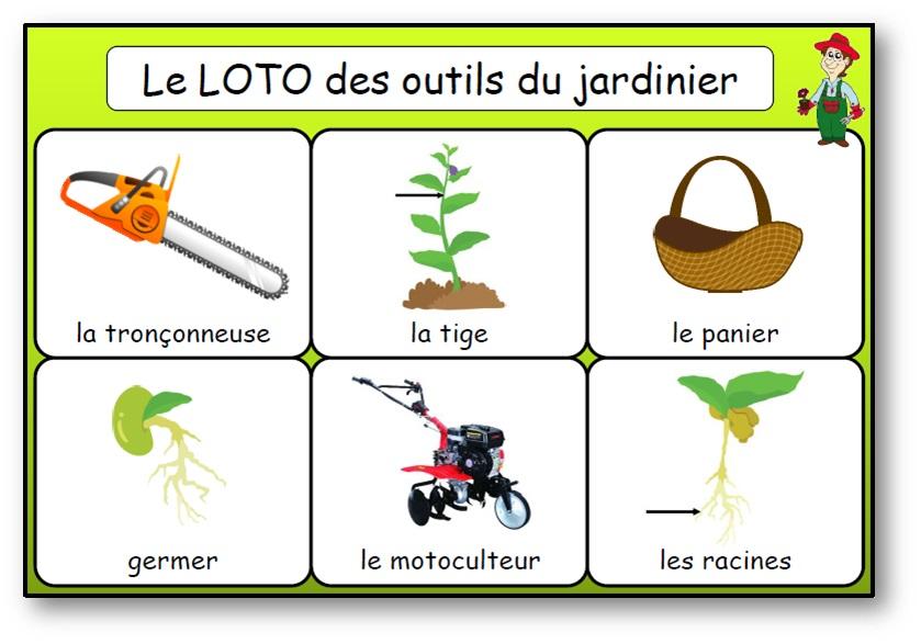 Bingo des outils du jardinier