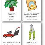 Imagier des outils de jardin