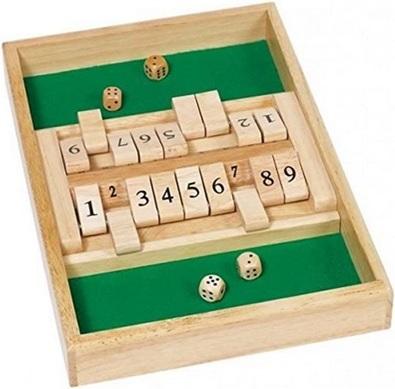 Jeu Fermer la boite, Shut the box 2 joueurs