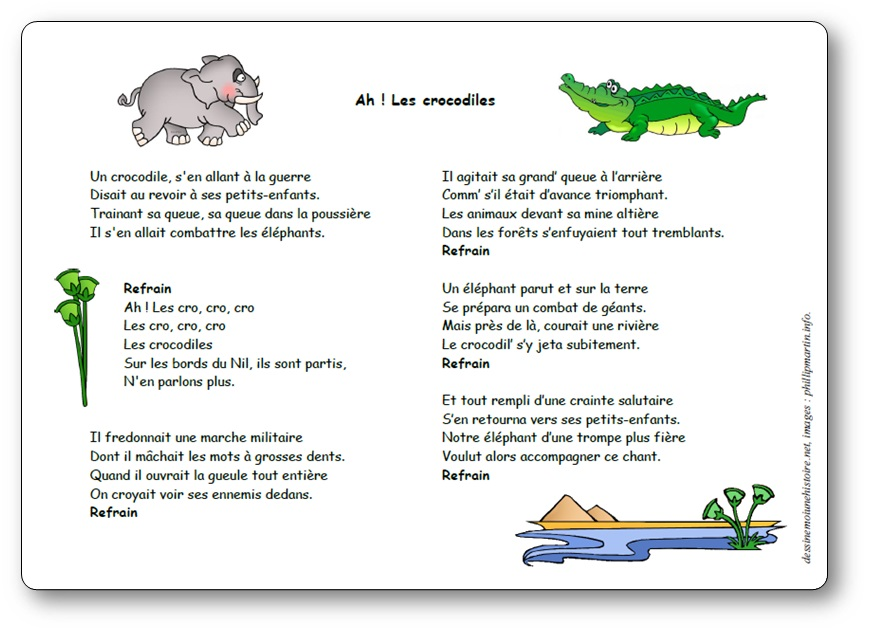 Chanson Ah Les crocodiles paroles
