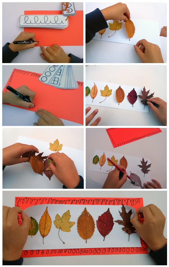 arts visuels avec feuilles d'arbres