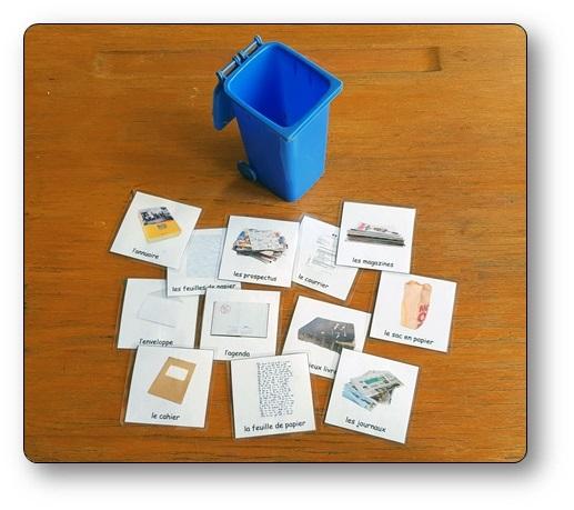Le jeu du tri sélectif, un jeu de tri das lequel il faut trier des étiquettes pour apprendre à trier ses déchets correctement