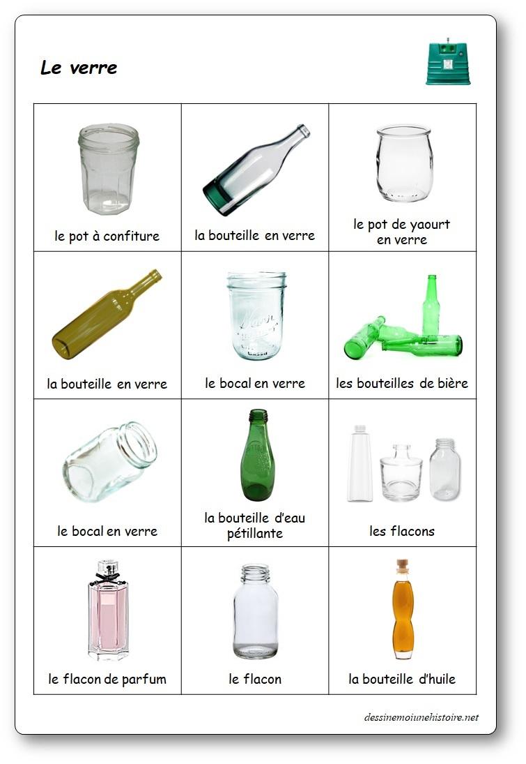 Le jeu du tri sélectif, trier les déchets en verre