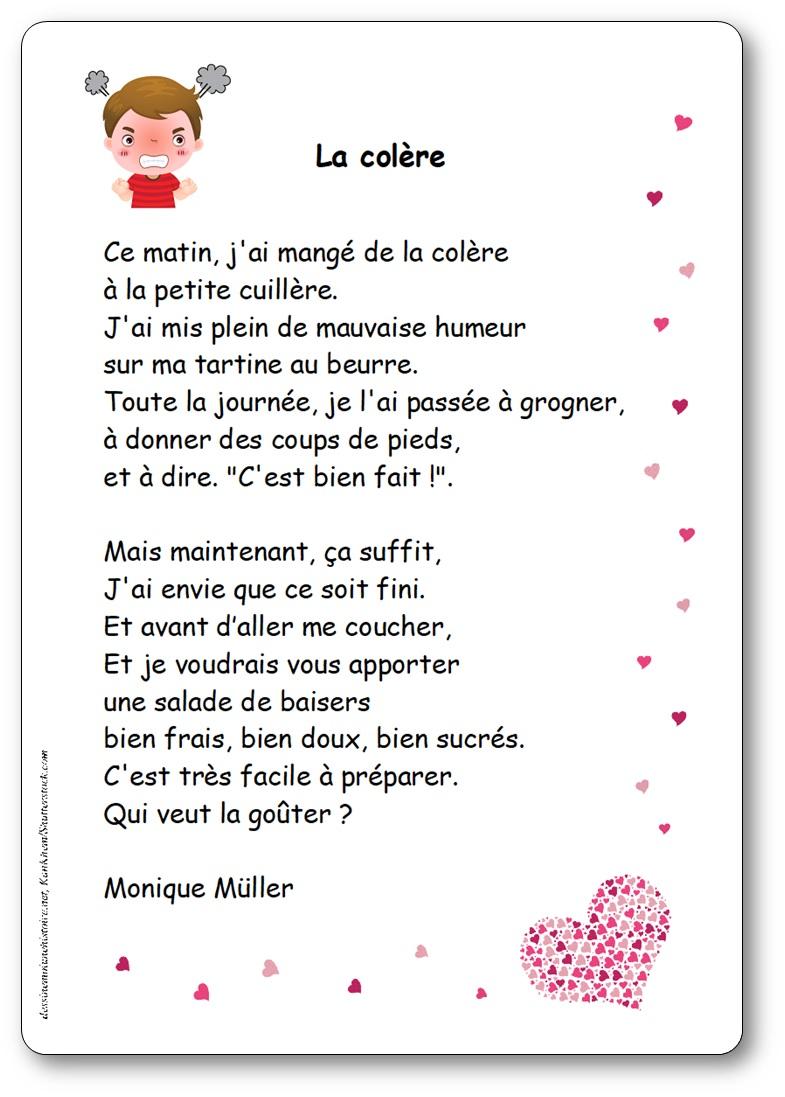 La colère, une poésie de Monique Müller