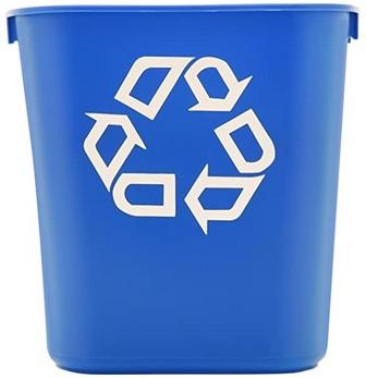 Poubelle de recyclage bleue