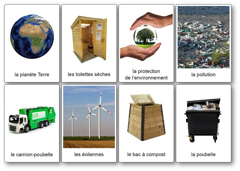 Imagier du recyclage des déchets, du tri sélectif et de l'environnement