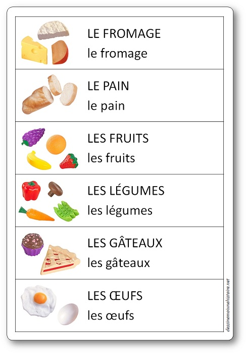 affichage coin cuisine maternelle