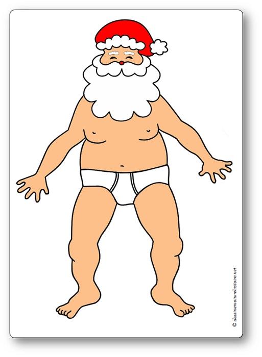 jeu de coopération de Noël : père Noël à habiller