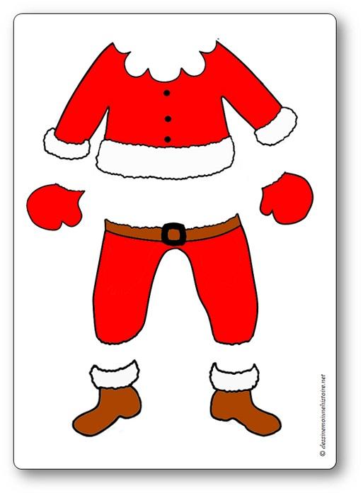 jeu de coopération de Noël : vêtements du père Noël