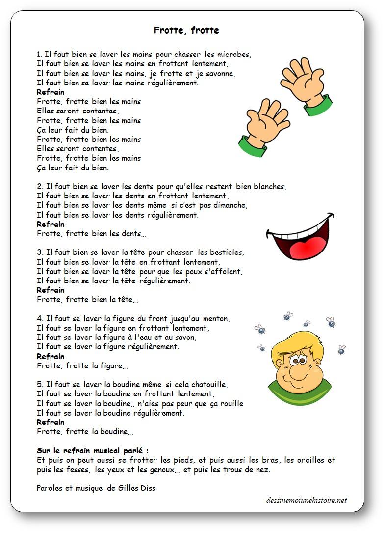 Frotte frotte, une chanson de Gilles Diss pour apprendre à se laver les mains, chanson lavage des mains