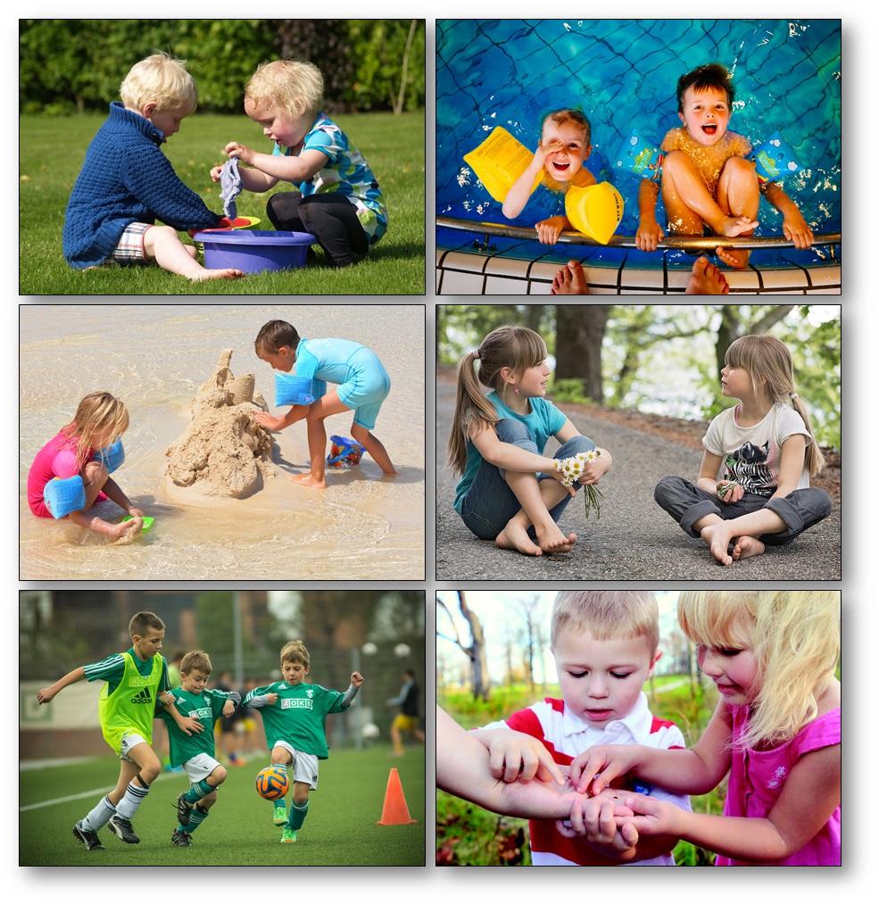 Que font-ils et que disent-ils imagier photos d'enfants en action