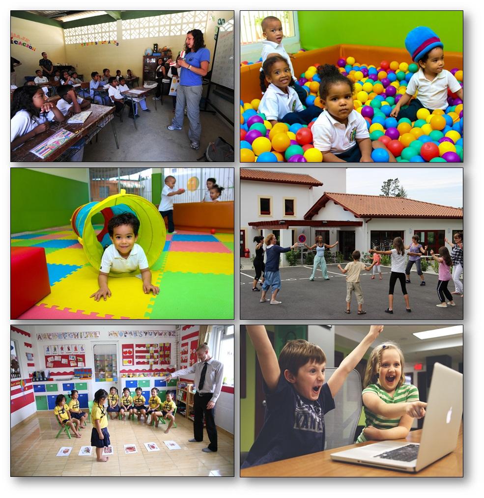 Imagier d'enfants en action à l'école pour améliorer la structure syntaxique, photo langage maternelle