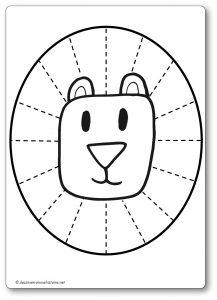 Découper une feuille de papier : la crinière du lion