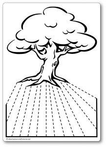 Découper une feuille de papier : les racines de l'arbre