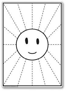 Découper une feuille de papier : les rayons du Soleil