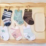 Atelier autonome trier les paires de chaussettes