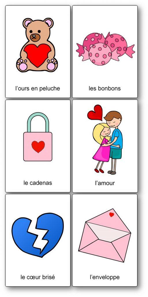 Images à imprimer pour la Saint Valentin, imagier Saint Valentin