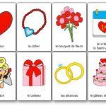 Imagier de la Saint-Valentin romantique coeur