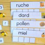 Apprendre à écrire des mots sur le thème des abeilles