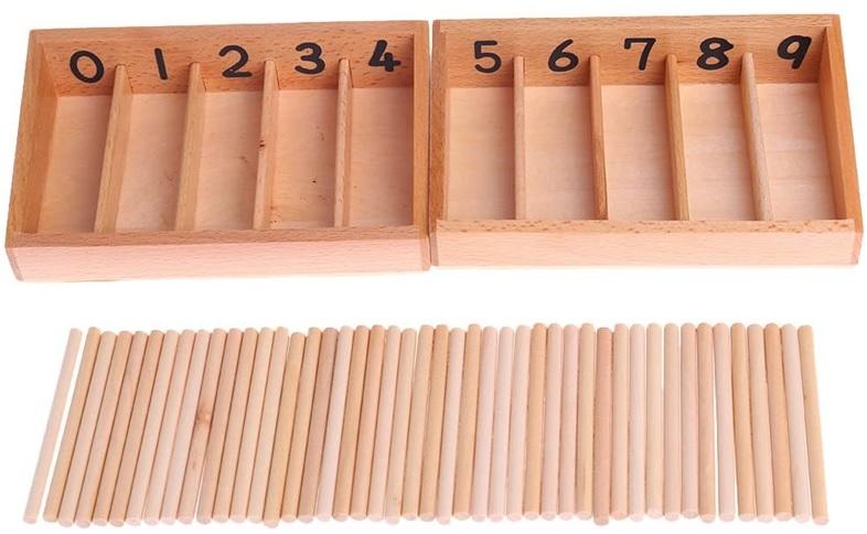 Fuseaux Barre de comptage Montessori Apprendre à compter, à découvrir sur Amazon