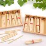 Fuseaux Montessori bâtonnets pour compter