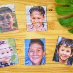 Reconstituer des visages d'enfants