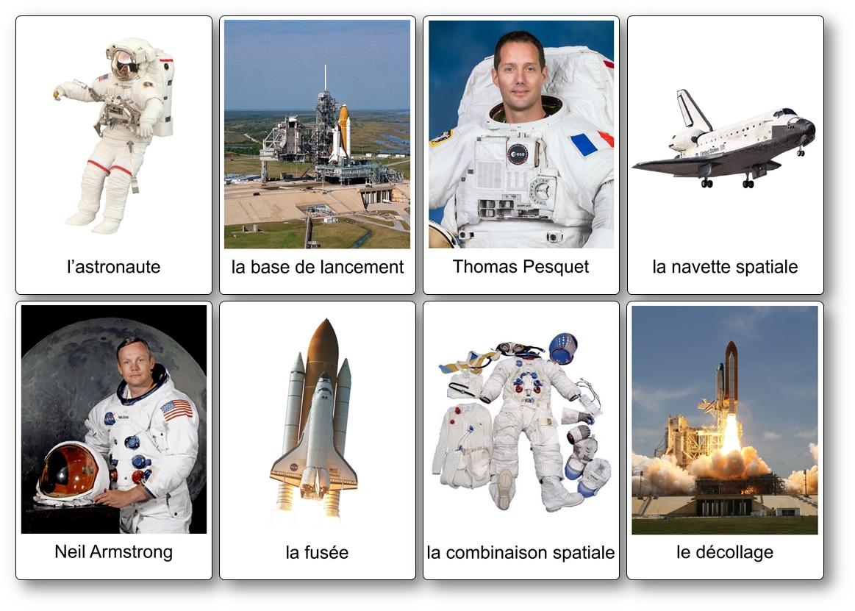 Cartes nomenclatures imagier espace conquete spatiale