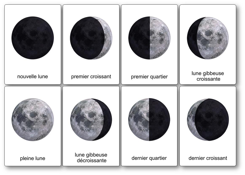 Imagier espace phases de la Lune