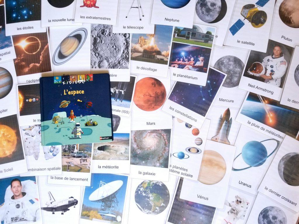 Imagier de l'espace et de l'univers en maternelle