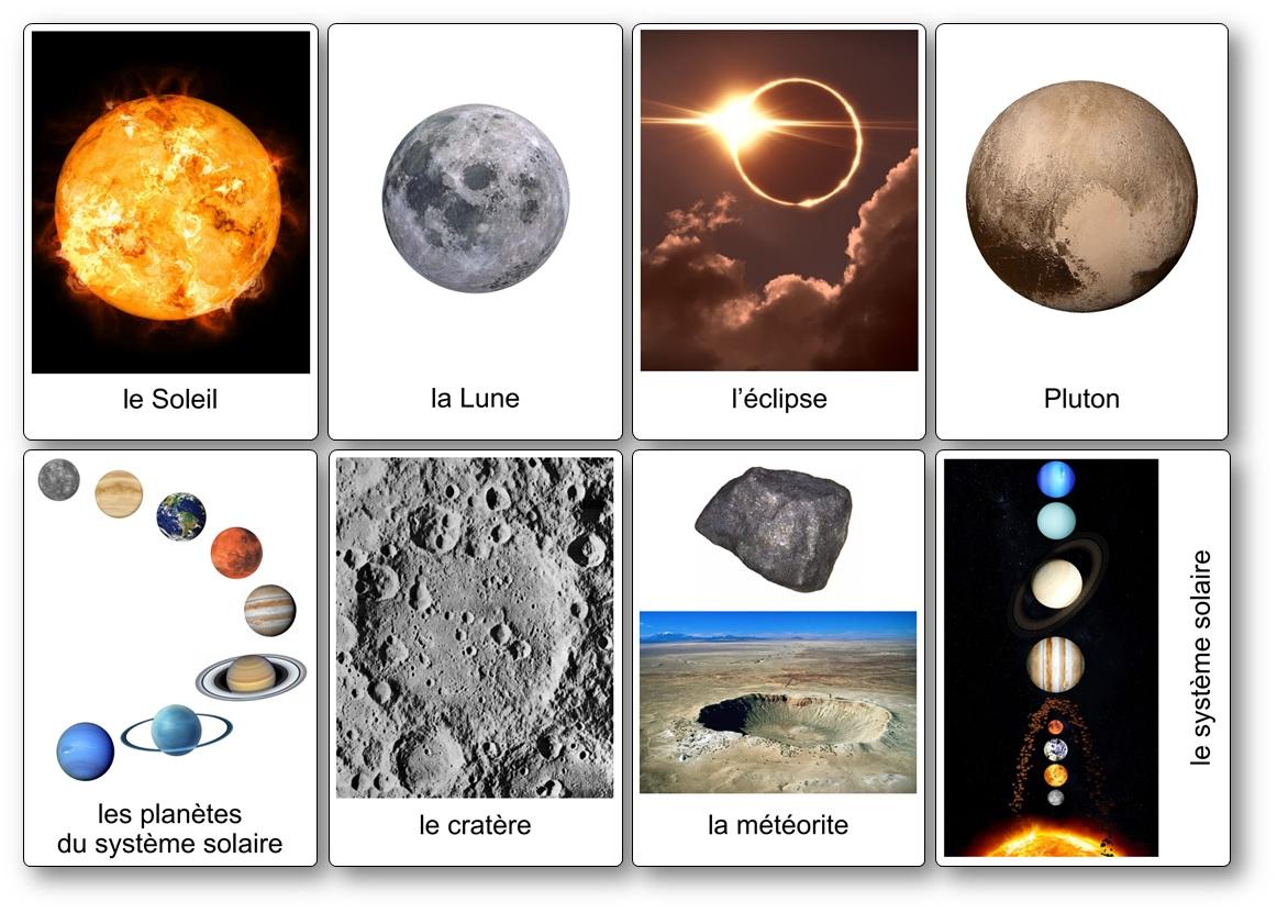 imagier de l'espace planète et univers