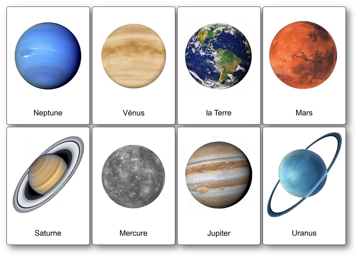 imagier espace planètes du système solaire