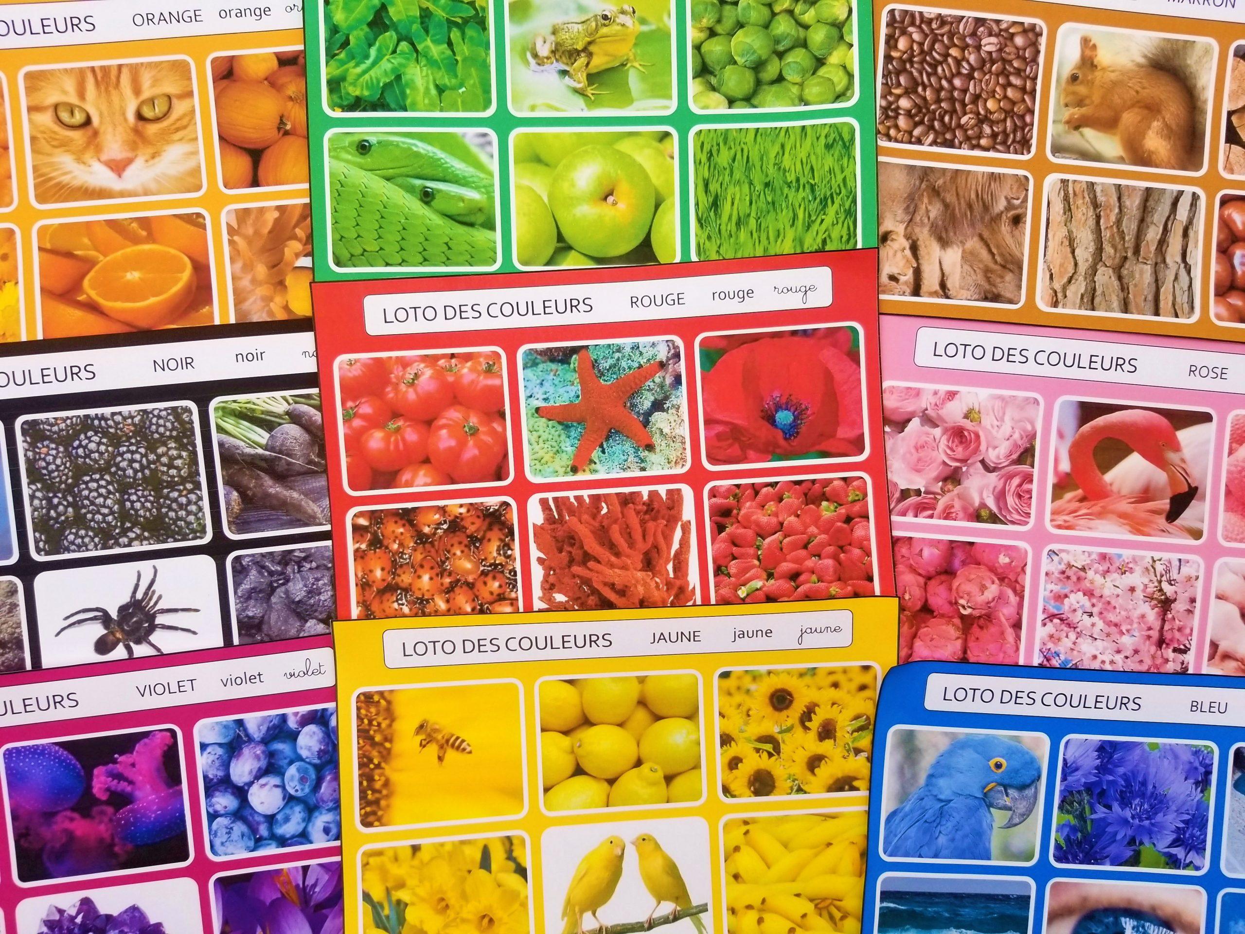 Bingo des couleurs cycle 1 et cycle 2